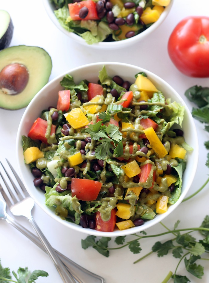 Mexican Chopped Salad with Zesty Hummus Dressing + 26 Recipes for a Vegetarian Cinco de Mayo