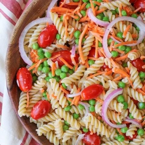 Pasta Salad with Lemon Poppy Seed Dressing   TheRoastedRoot.net #glutenfree #healthy #recipe #summer