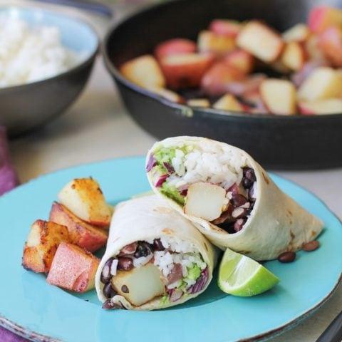 Vegan Breakfast Burritos | TheRoastedRoot.net #healthy #recipe #glutenfree