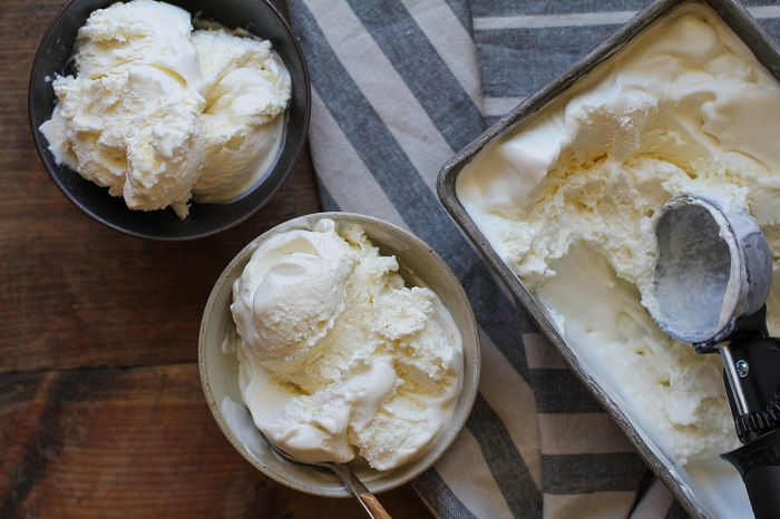 3-Ingredient No-Churn Vanilla Ice Cream | TheRoastedRoot.net - #dessert #recipe - a super quick and easy recipe for the fluffiest, creamiest ice cream ever!