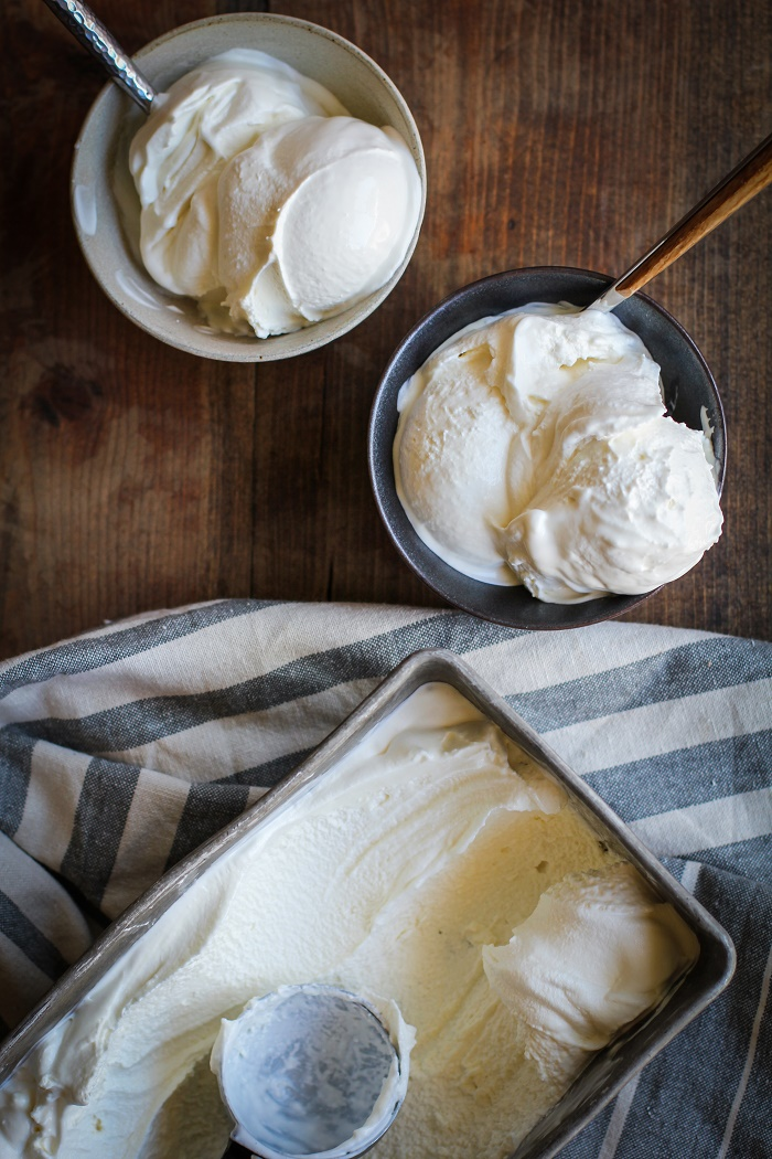3-Ingredient No-Churn Vanilla Ice Cream | TheRoastedRoot.net #dessert #summer #recipe #homemade
