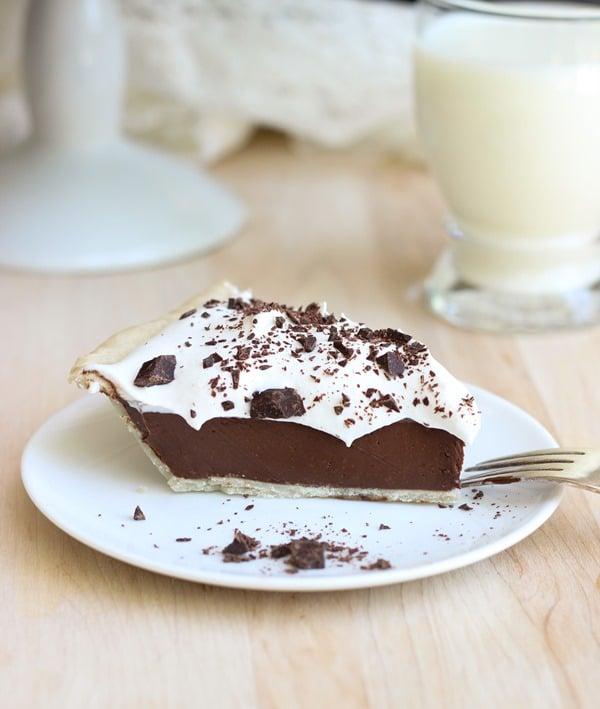 Vegan Silk Chocolate Pie - gluten-free, dairy-free dessert