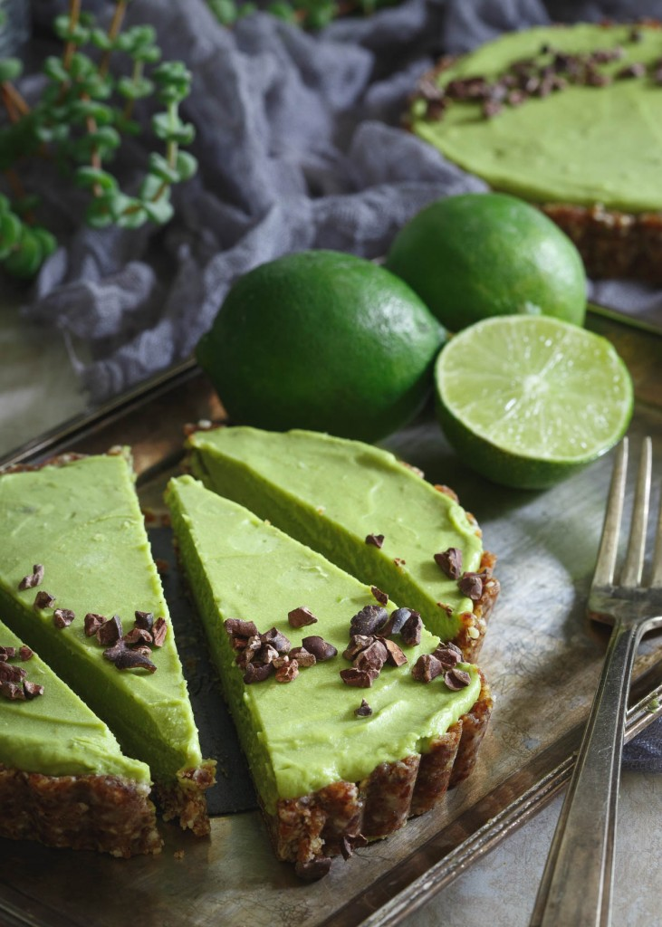 No-Bake Lime Avocado Tart - gluten-free, paleo, vegan, healthy, dessert