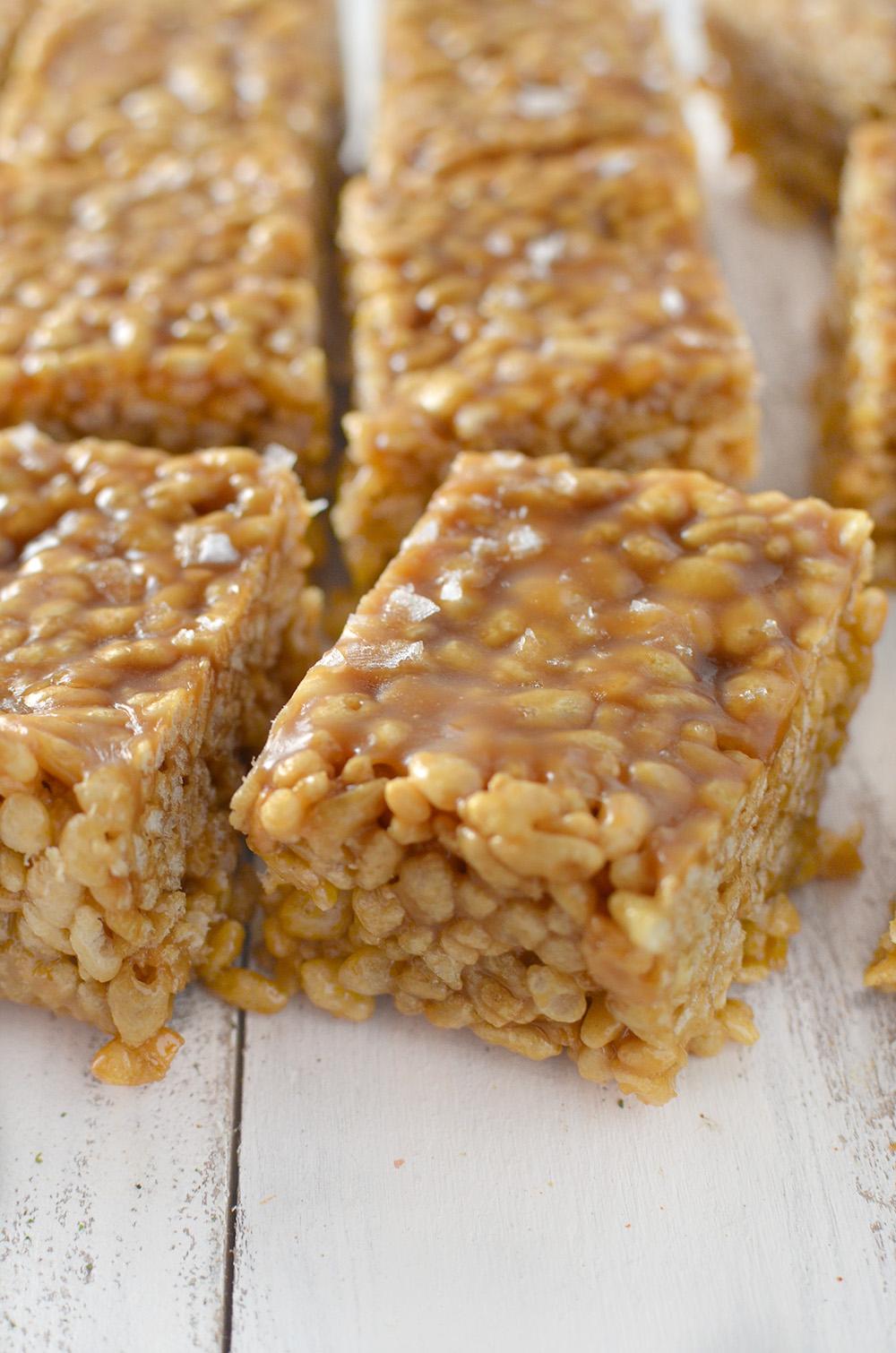 Vegan Salted Caramel Hippie Bars - Gluten-free, and cane sugar-free