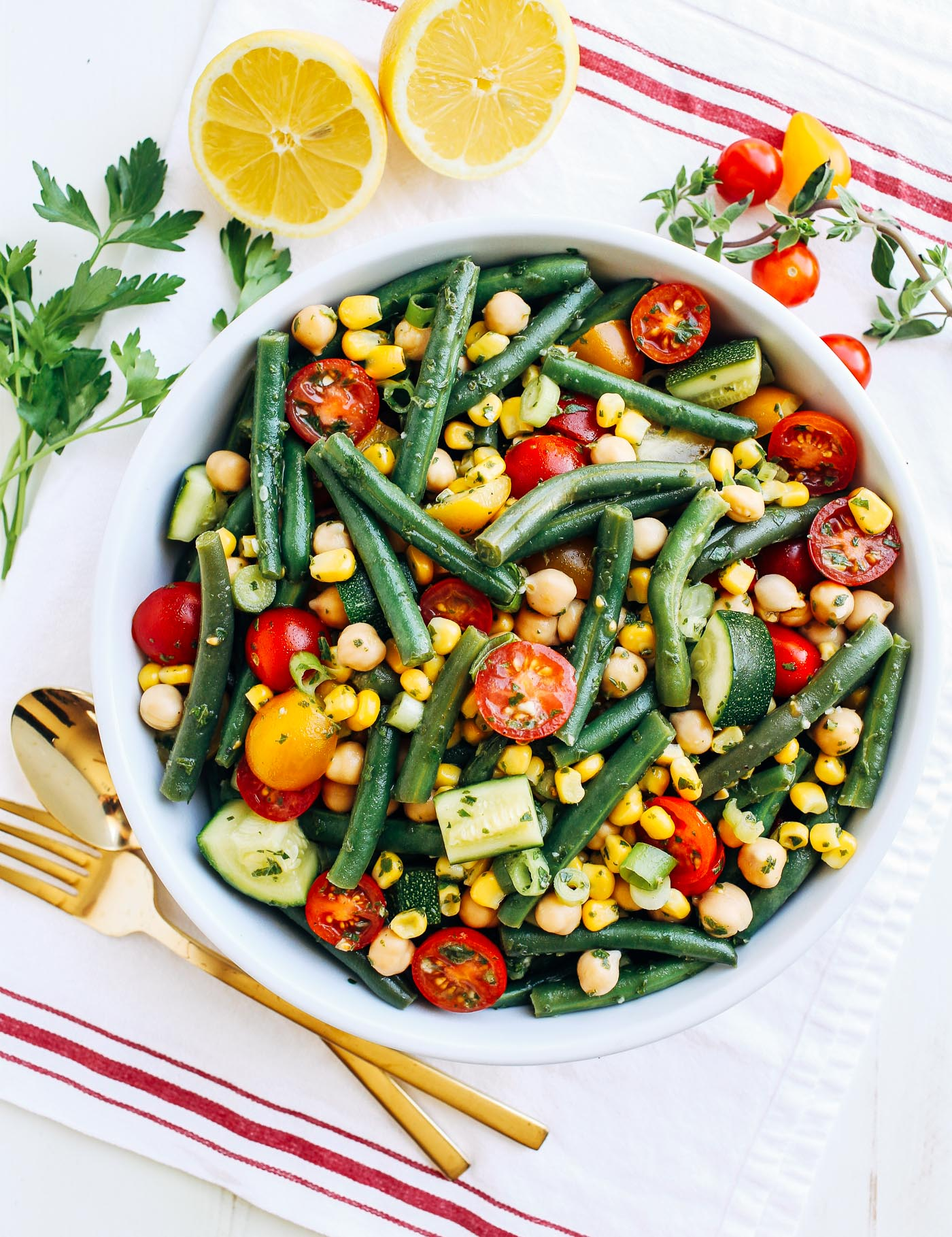 Summer Green Bean Salad + 6 recipes for your 4th of July picnic or barbecue!