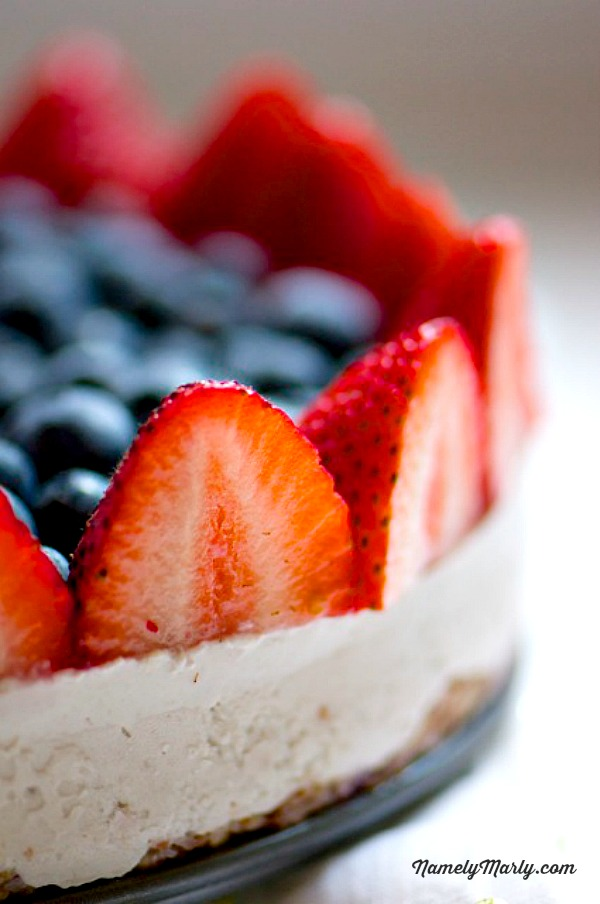 Red White and Blueberry Vegan Cheesecake from Namely Marly (raw, vegan ...