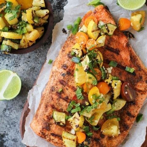 How to Perfectly Grill Salmon | TheRoastedRoot.net #copperriversalmon #sustainablesalmon #wildalaskansalmon #paleo #healthy