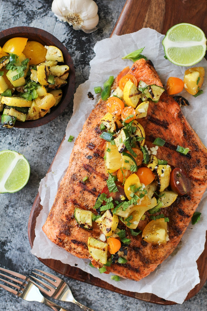 How to Perfectly Grill Salmon | TheRoastedRoot.net #copperriversalmon #sustainablesalmon #wildalaskansalmon #paleo #healthy