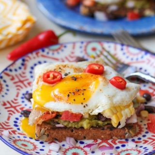 Southwest Breakfast Avocado Toasts