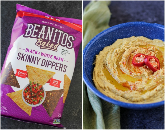 Mexican Street Corn Spicy Chipotle Hummus | TheRoastedRoot.net #recipe #appetizer @beanitos
