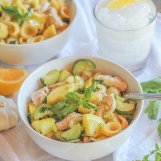 30-Minute Chicken and Zucchini Orecchiette Pasta with Lemon-Butter Sauce