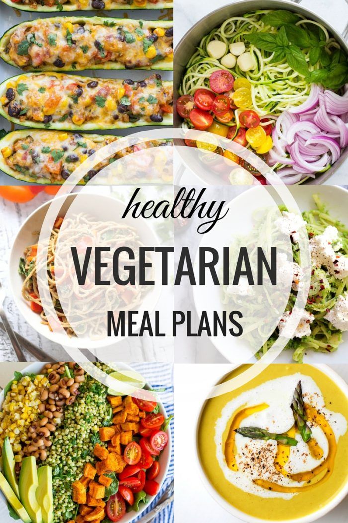 Healthy Weekly Vegetarian Meal Plan 7.16.2016