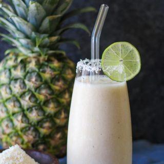 Piña Colada Smoothie (Two Ways!) + Cookbook Review