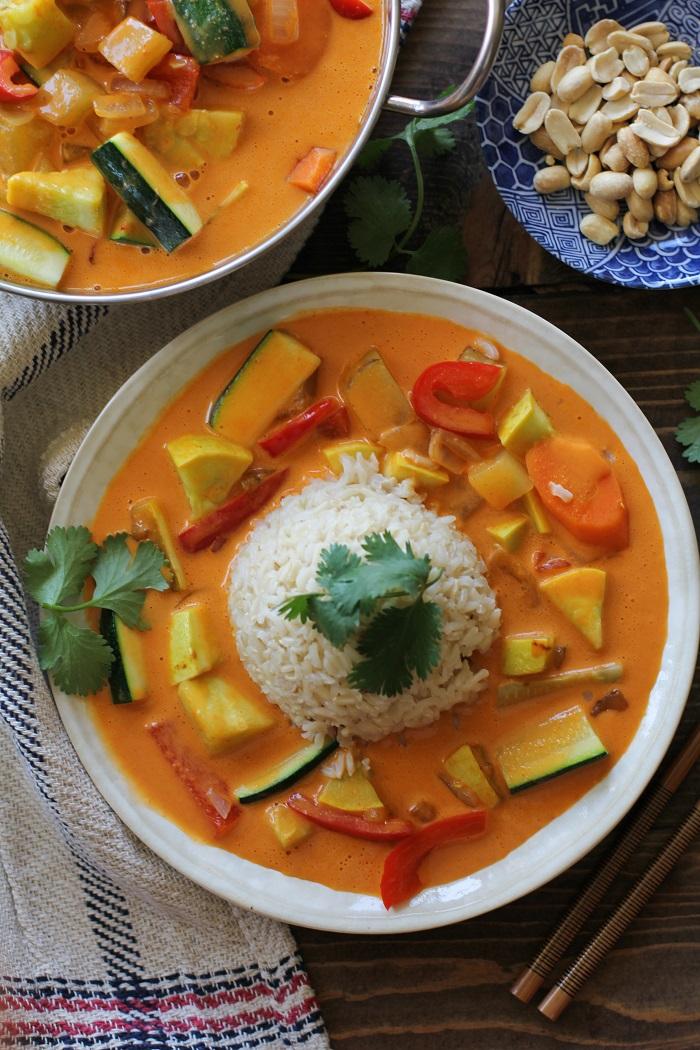 30-Minute Summer Vegetable Red Curry | TheRoastedRoot.net #vegan #vegetarian #healthy #glutenfree