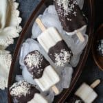 Almond Joy Popsicles - vegan and paleo-friendly | TheRoastedRoot.net #dessert #recipe #chocolate