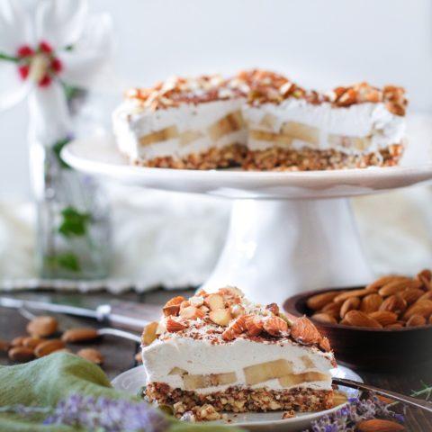 No Bake Vegan Banana Cream Pie   TheRoastedRoot.net #glutenfree #healthy #dessert #recipe #dairyfree #sugarfree