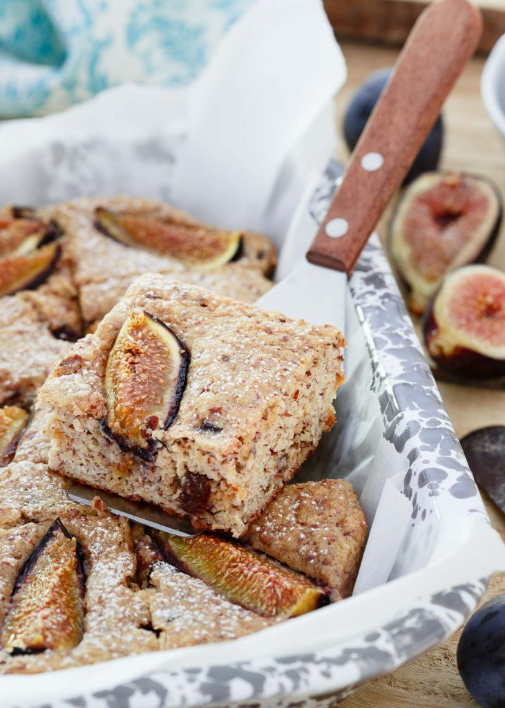 Fig Almond Ricotta Cake - gluten-free and healthy