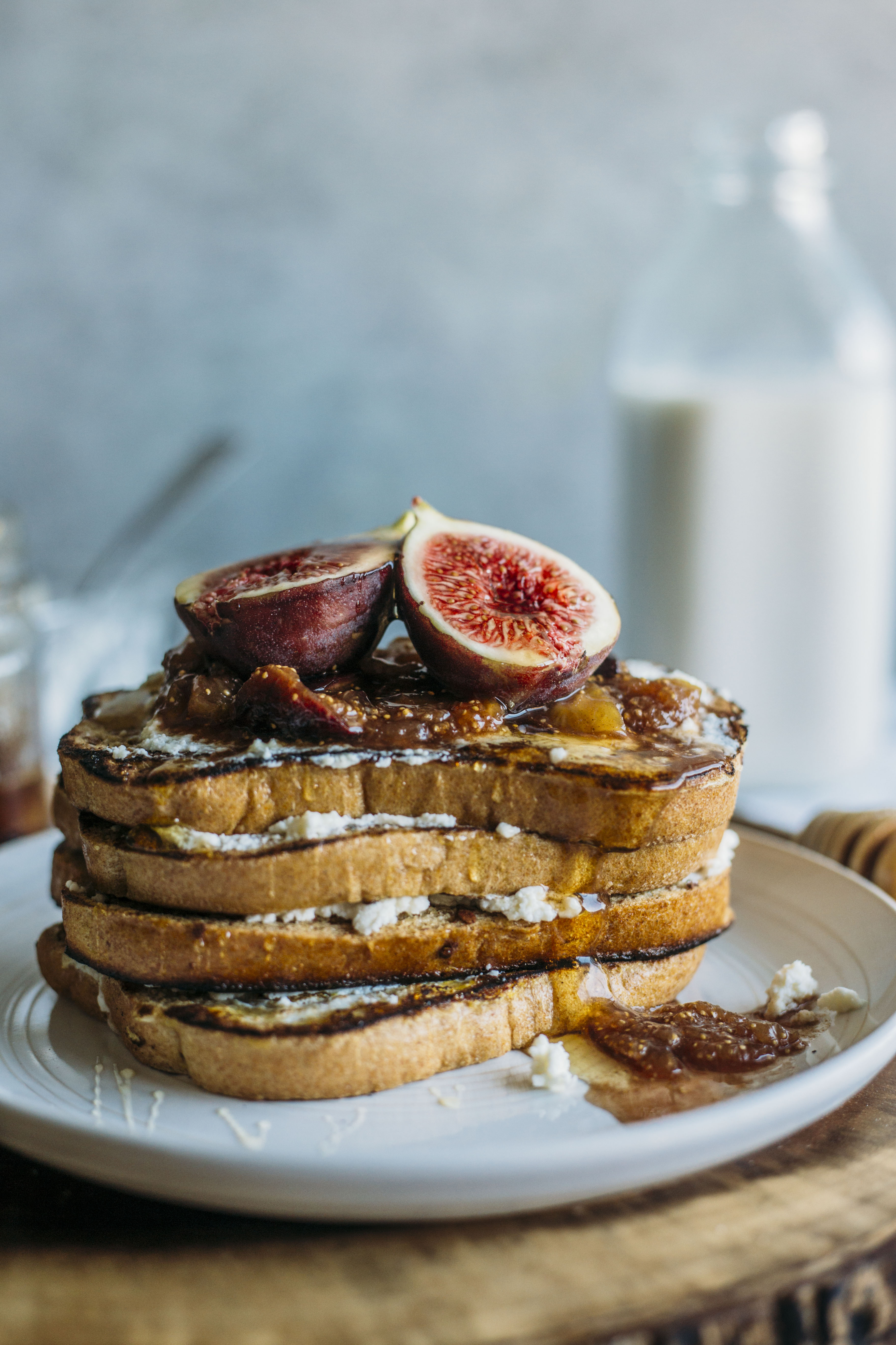 French Toast with Fig Compote #recipe #breakfast