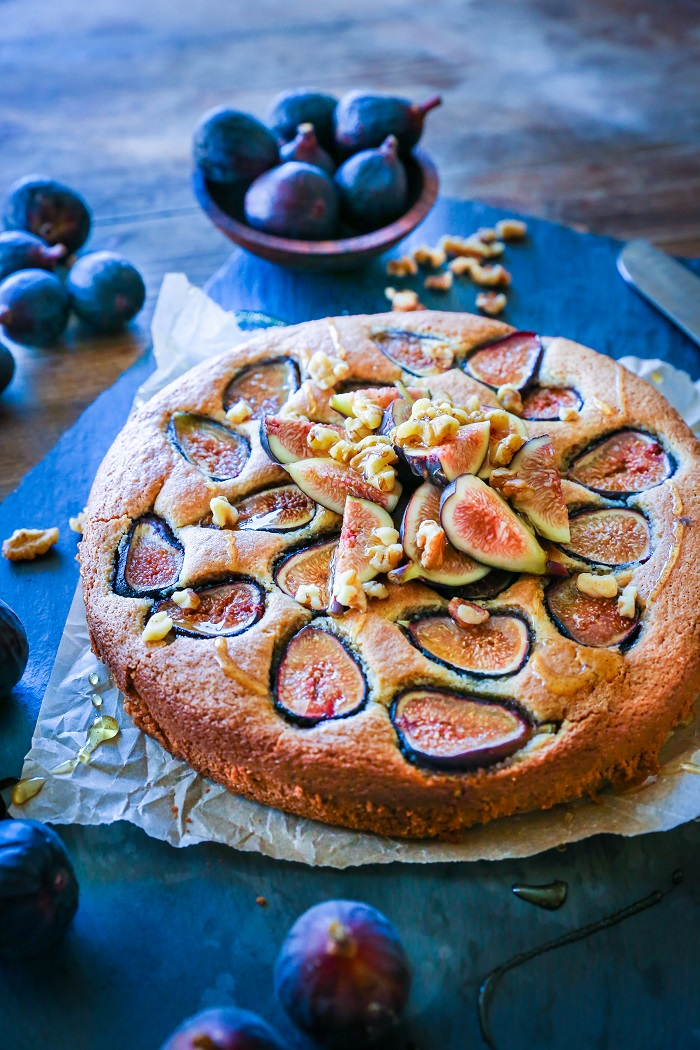 Almond Flour Fig Cake - grain-free and paleo-friendly | TheRoastedRoot.net #healthy #glutenfree #paleo #dessert