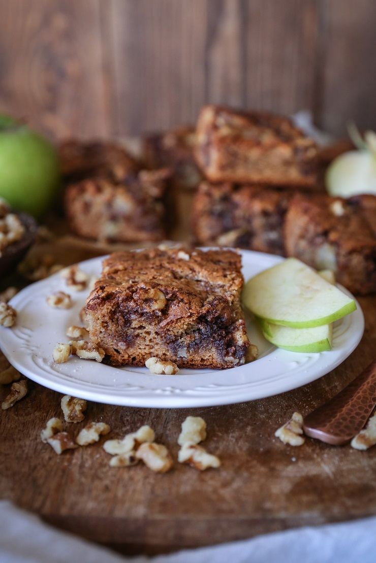 Apple Coffee Cake - grain-free, sugar-free, dairy-free, and paleo | TheRoastedRoot.net #healthy #dessert #breakfast #recipe #glutenfree