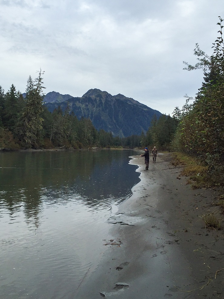 Fishing the Eyak River in Cordova, AK
