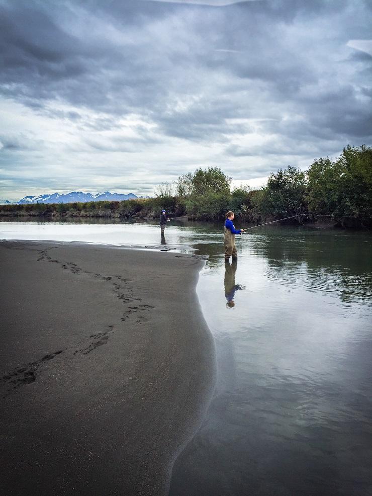 Fishing the Eyak River in Cordova, AK
