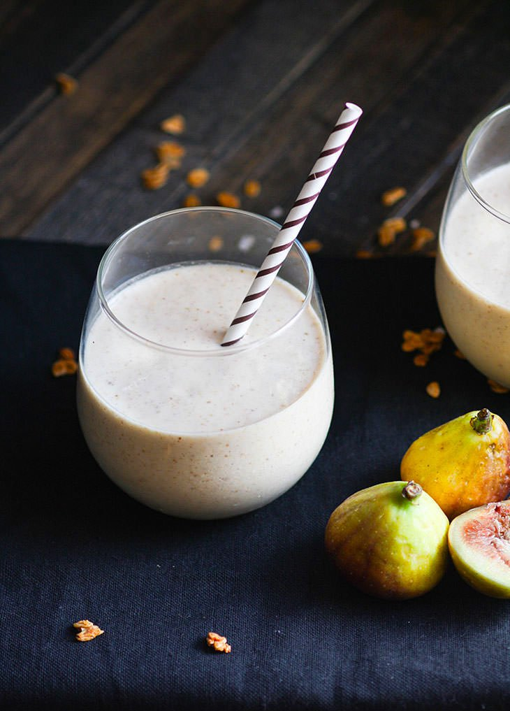 Fig Newton Breakfast Smoothie #healthy #recipe