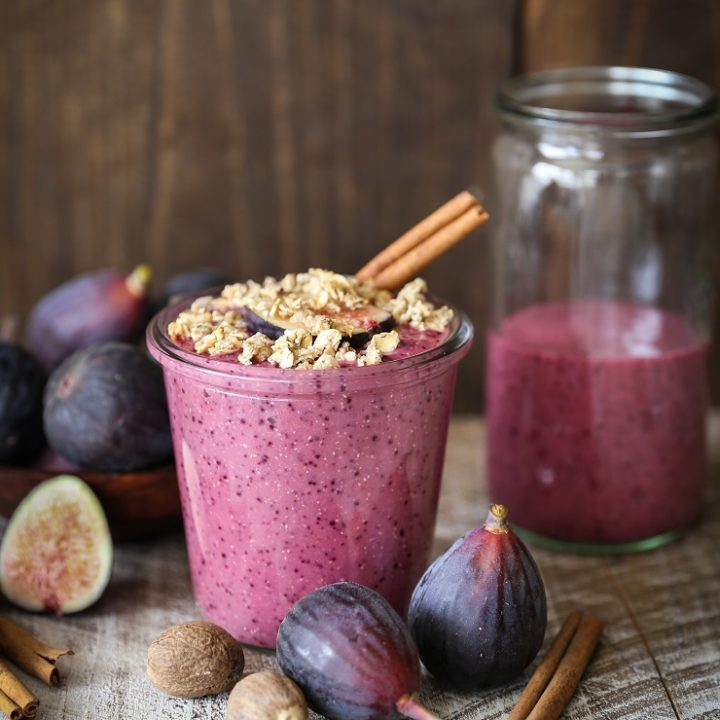 Fig and Beet Fall Protein Smoothie   TheRoastedRoot.net #healthy #vegan #breakfast #smoothie