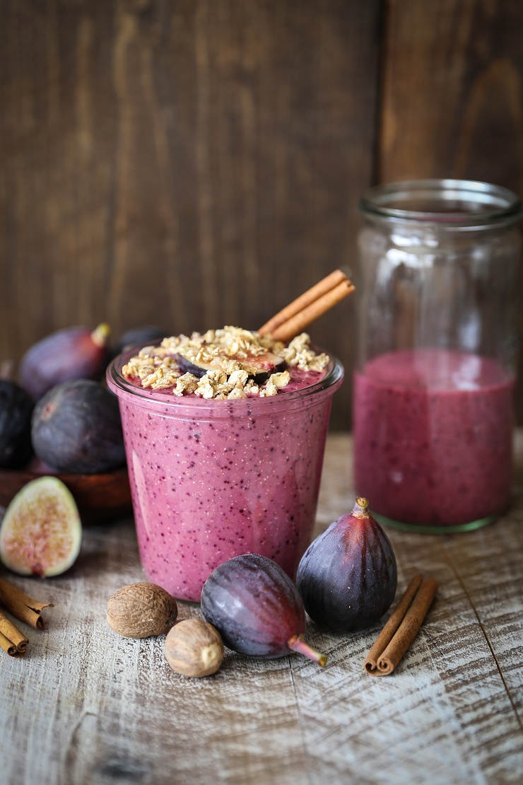 Fig and Beet Fall Protein Smoothie | TheRoastedRoot.net #healthy #vegan #breakfast #smoothie