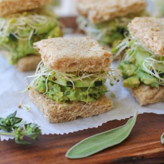 Mashed Avocado Finger Sandwiches