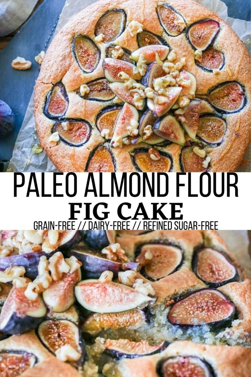 Paleo Almond Flour Fig Cake - grain-free, refined sugar-free, dairy-free and healthy enough to eat for breakfast!
