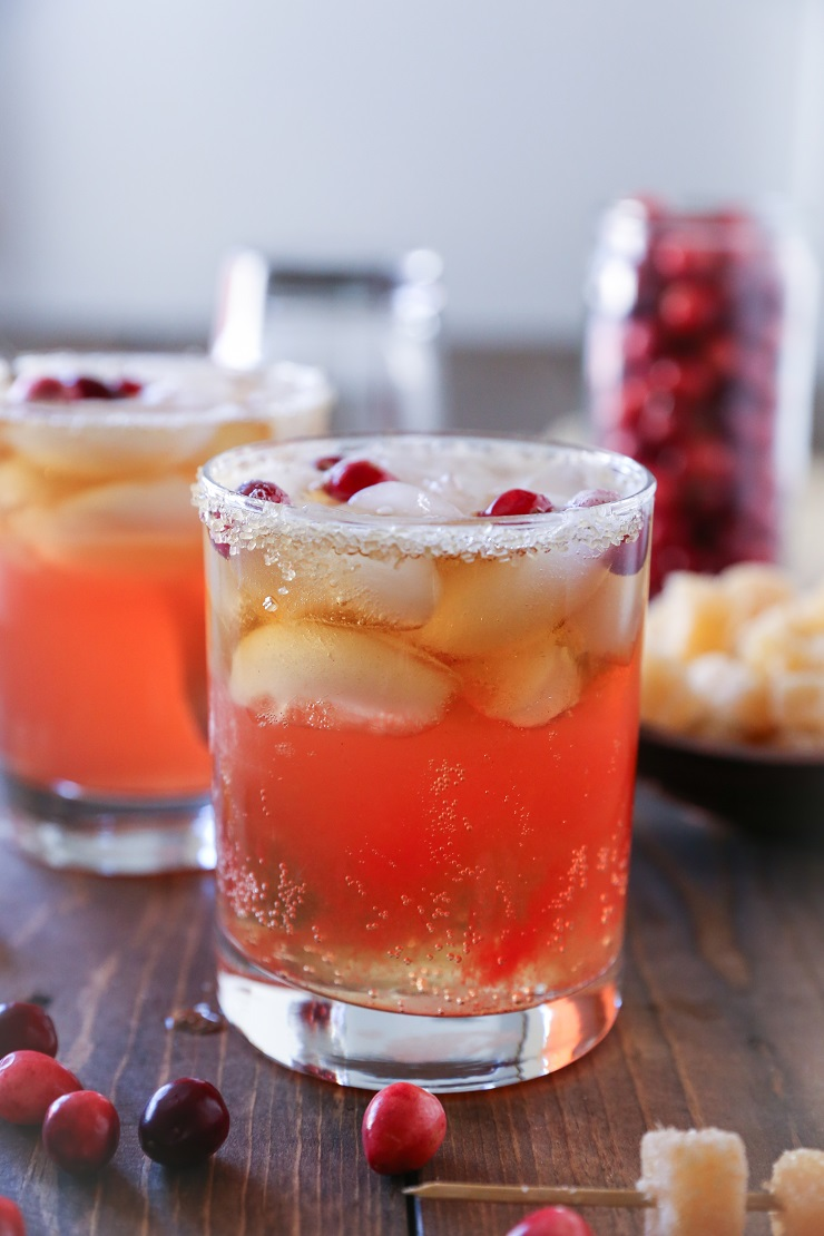 Cranberry Dark and Stormy cocktails | TheRoastedRoot.net #drink #beverage #Thanksgiving #friendsgiving #recipe #CookWithCranberries