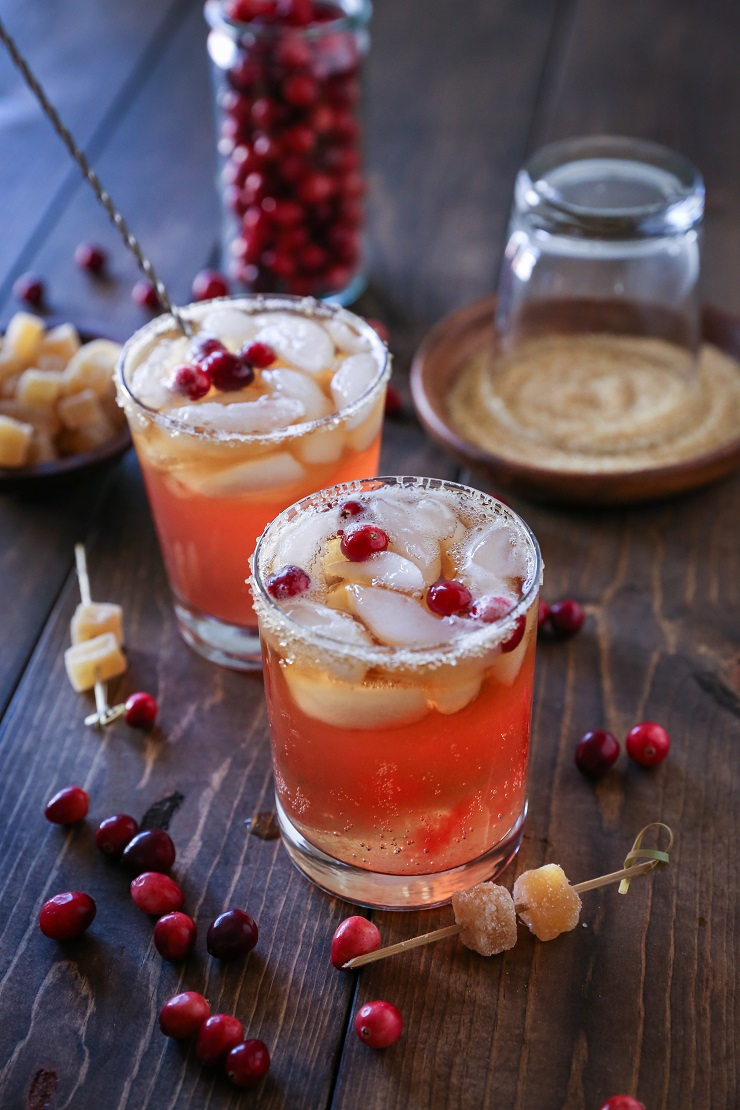 classic dark and stormy cocktail, spruced up with homemade cranberry ...