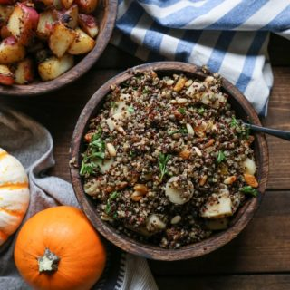 Indian-Spiced Lentil and Quinoa Stuffing