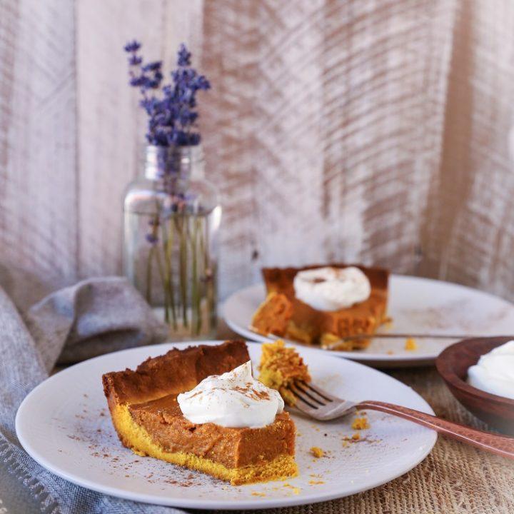 Chai-Spiced Vegan Sweet Potato Pie | TheRoastedRoot.net a healthy, gluten-free, paleo-friendly holiday dessert #paleo #primal #vegan #dairyfree