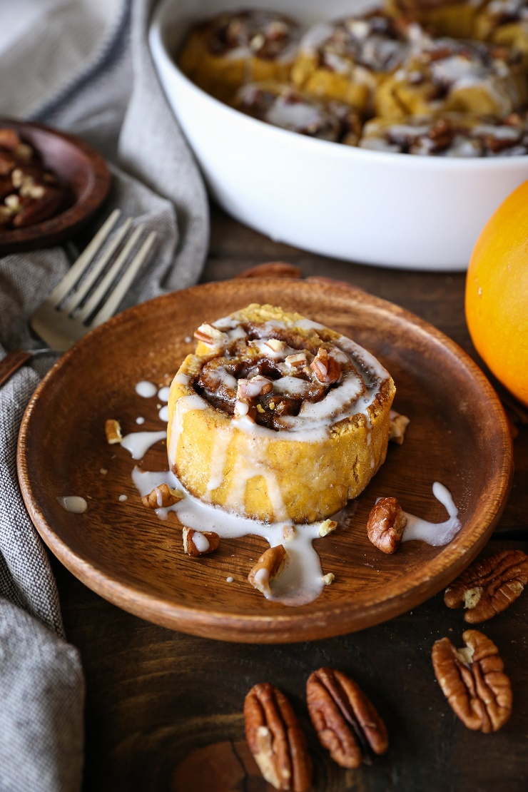 Gluten-Free Pumpkin Cinnamon Rolls with Coconut Milk Glaze - naturally ...