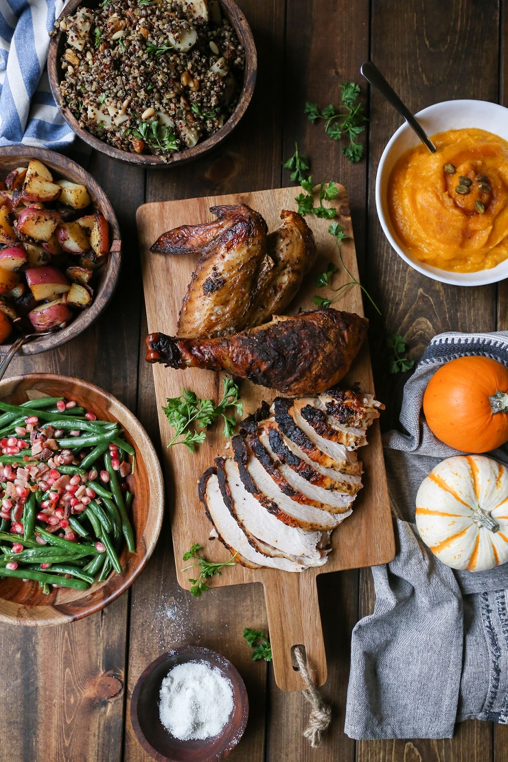 How to Roast the Perfect Thanksgiving Turkey + Tips on throwing an amazing feast @diestelturkey | TheRoastedRoot.net #diestelturkey #thanksgiving #gobblegobble #healthy