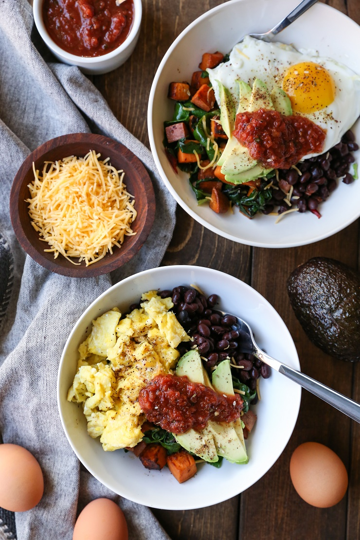 How to Build the Ultimate Healthy Breakfast Bowls | TheRoastedRoot.net #healthy #breakfast #glutenfree #paleo #whole30 #primal