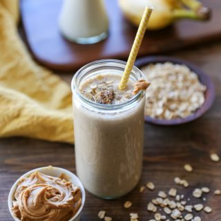 Banana Bread Oat Protein Smoothie