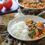 Easy 30-Minute Chana Saag - a classic vegetarian Indian dish | TheRostedRoot.net #healthy #vegan #vegetarian #dinner #recipe