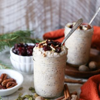 Eggnog Overnight Oats (Dairy-Free, Naturally Sweetened)