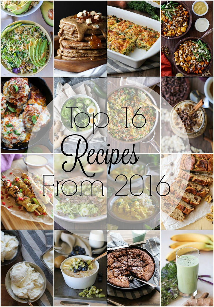 Top 16 Recipes From 2016 on The Roasted Root