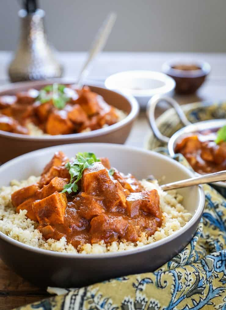 Paleo Butter Chicken - keto, low-carb Indian Butter Chicken with cauliflower rice is a healthy, satisfying meal!