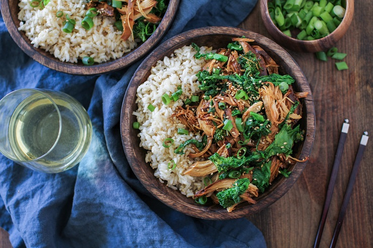 Crock Pot Chicken Teriyaki With Broccoli Rabe The Roasted Root
