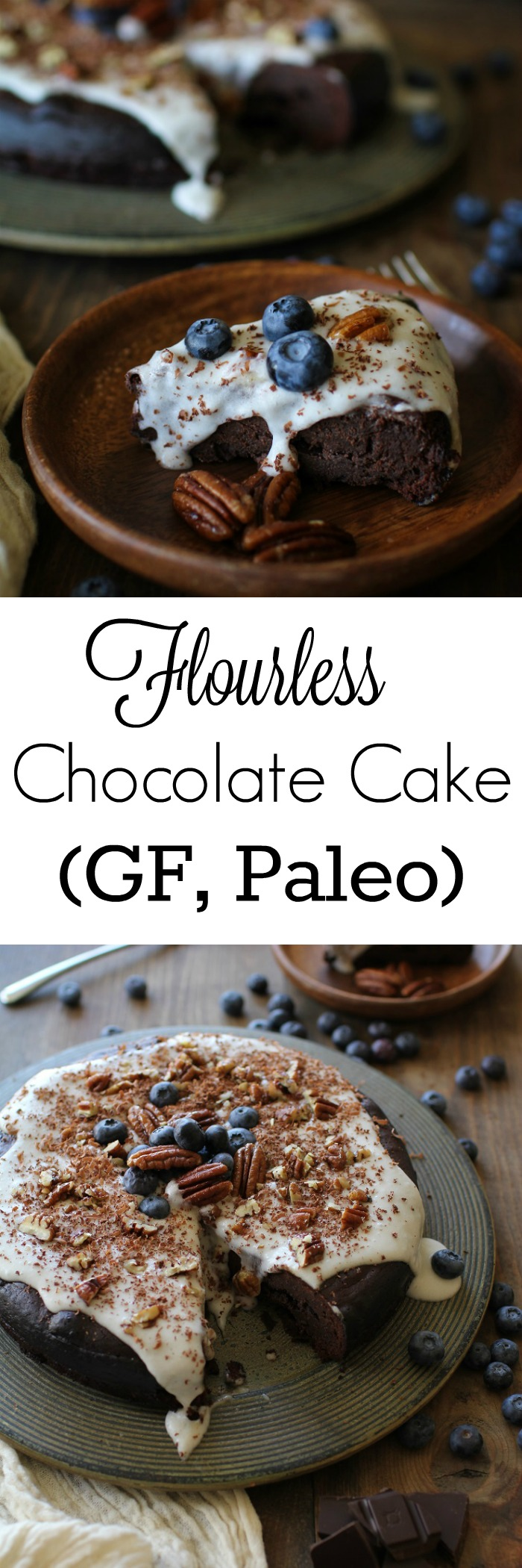 Flourless Chocolate Cake - dairy-free, refuned sugar-free and paleo | TheRoastedRoot.net #valentinesday #dessert #healthy