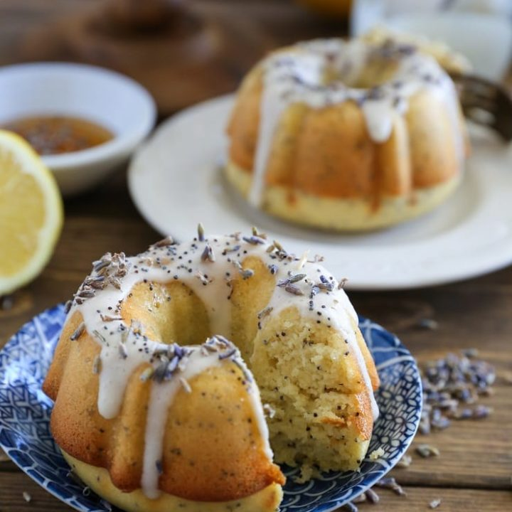 Grain-Free Lemon Poppy Seed Mini Bundt Cakes (Paleo) | TheRoastedRoot.net #glutenfree #dairyfree #sugarfree #recipe #dessert