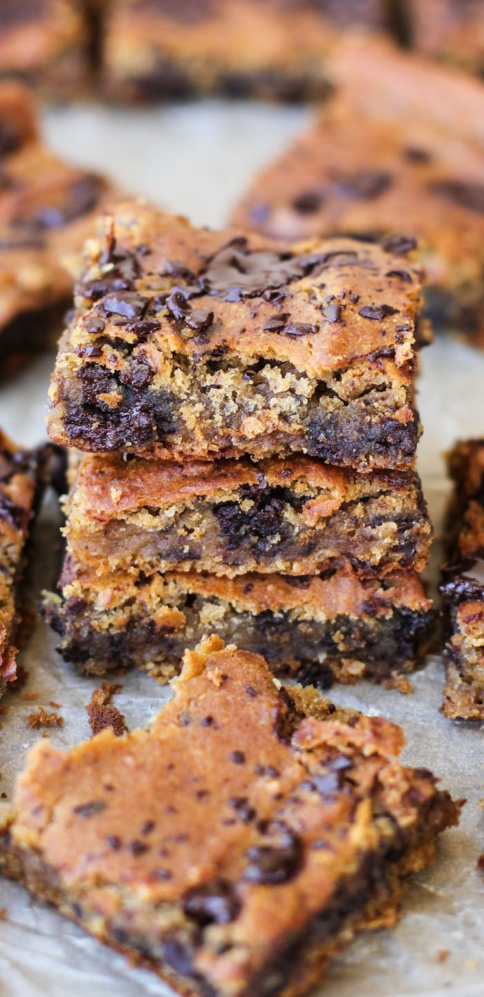 Peanut Butter Chocolate Chip Chickpea Bars