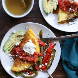 Fajita Omelettes - a quick, easy, and nutritious breakfast recipe.