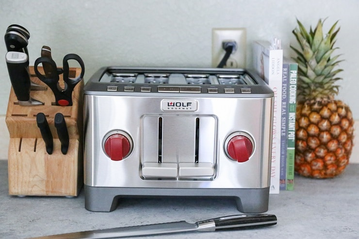 Wolf Gourmet Four Slice Toaster for toasting homemade gluten free sandwich bread
