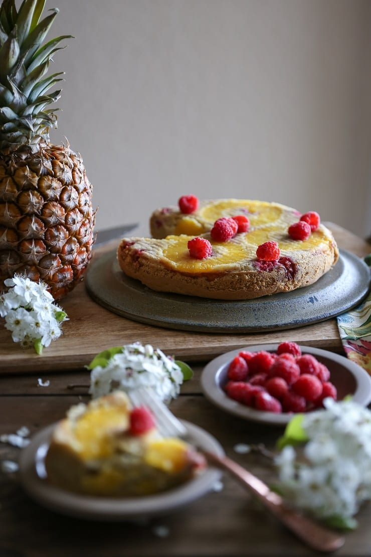 Paleo Pineapple Cake - no grains, dairy, or sugar!